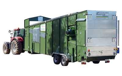 Double Flow Mobile Grain Dryer